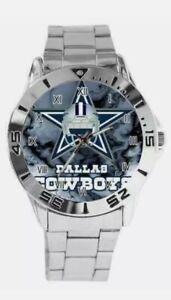 New Dallas Cowboys Football Custom Logo Helmet Stainless Steel Wrist Watch