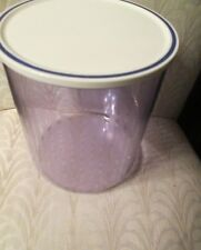 """TUPPERWARE BLUE ACRYLIC CANISTER CONTAINER WHITE/BLUE SEAL6 1/4""""H*NIP*2002*LAST1"""