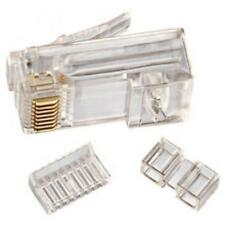 Cat 6 8 Position Rj45 Stranded Modular Crimp Plug 10 Pack