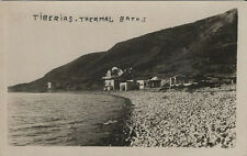 Old Real Photo Postcard - The Thermal Baths at Tiberias Israel