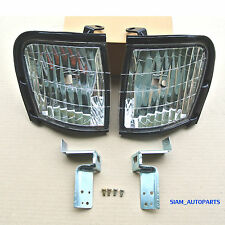2 x CLEAR CORNER LIGHTS INDICATOR HOLDEN TF RODEO 1997 - 2002 98 99 00 01 02 L R