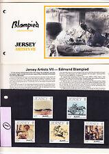 JERSEY Artists Blampied birth centenary 2 jeux