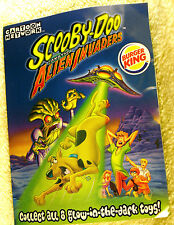Burger King Scooby-Doo 2000 NEW 6 Toy Glow in the dark Alien Invaders Scooby Doo