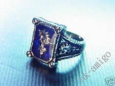 Final Fantasy VIII 8 FF8 Amber Marcasite Ring