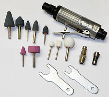 "16PC 1/4"" AIR COMPRESSOR DIE GRINDER & STONES TOOL KIT"