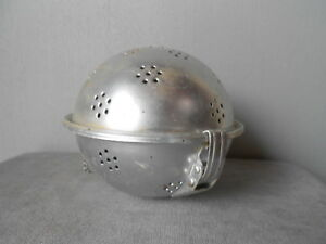 VINTAGE French  aluminum Rice BOILING BALL