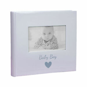 Photo Album with Window to Front 160 6x4 Pictures - Blue Baby Boy