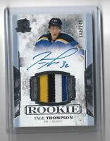 2017-18 THE CUP hockey Tage Thompson Rookie Patch Auto 4 CLR 141/249