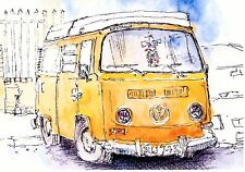 Volkswagen VW Camper Westfalia blank Greeting card Parkhouse Industrial estate
