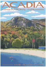Acadia National Park, Maine - Sand Beach Scene Poster Print, 13x19