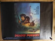 DEADLY PURSUIT (1988) - original UK quad film/movie poster,crime action thriller