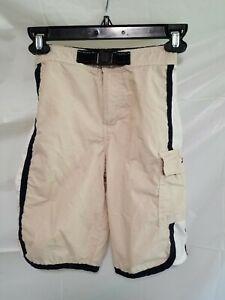 Tommy Hilfiger Boys Board shorts Size Small S Cargo Pocket Flag Logo No Lining