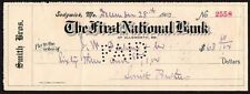 Cheque - US - The First National Bank, Ellsworth, ME, 1903 - No:- 2558