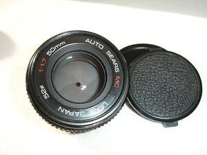 SEARS 50mm F/ 1.7 Lens , for Pentax K ( PK )  mount camera SN325171