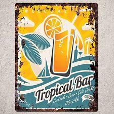 PP0077 Vintage Tropical Bar Sign Plate Beach Bar Pub Cafe Restaurant Decor Gift