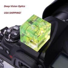 4x Flash Hot Shoe Triple Bubble Spirit Level 3-axis for Digital Camera USA Ship!