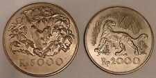 INDONESIA / 1974 2000 & 5000 Rupiah (.500 silver) A.Unc !!