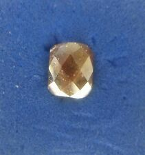 Loose Natural Diamond slice Radiant shape rose cut Brown color 0.58CT For Ring