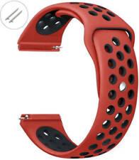 Rojo y Negro Reloj Banda Correa de Reemplazo de Silicona Deportivo Pines de liberación rápida #4075