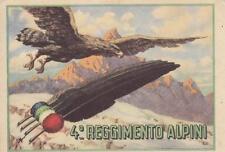 C1911) 4 REGGIMENTO ALPINI. AL VERSO MOTIVAZIONE MEDAGLIA D'ARGENTO AL V. M.. VG