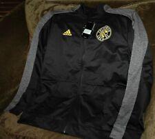 Columbus Crew full zip jacket MEN's large MLS Adidas Climalite authentic black