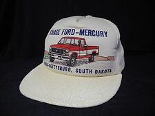 Vtg Chase Ford Mercury Snapback Trucker Hat Cap Foam 1980s F150 Hipster