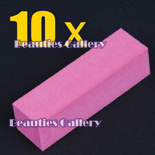 10Pcs Pink Buffer Buffing Block Sanding Files Nail Art Tips Manicure Tools Kit