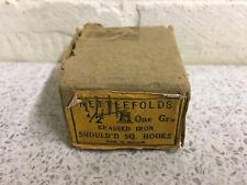 "137 x Nettlefolds 1/2"" Brassed Iron Shouldered Square Hooks Boxed NOS"