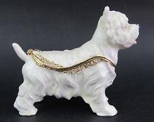 West Highland Terrier Dog Standing Trinket Box or Figurine Approx 6.5cm High