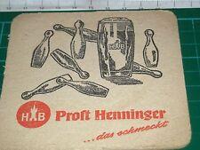 sottobicchiere beer mats birra bierdeckel HB PROST HENNINGER