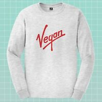 Vegan Parody Long Sleeve T-shirt Veggie Virgin Plant Tee Herbivore Kind Top