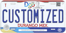 Durango Mexico Personalized Customized Novelty Auto Car License Plate C05