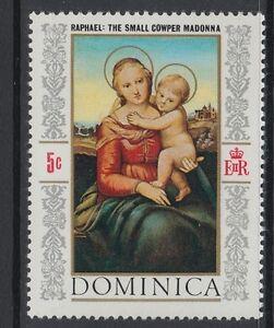 timbre NEUF - 5 c République Dominicaine DOMINICA - Raphael 1968,
