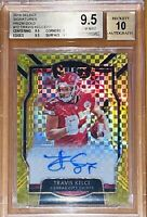 2018 Travis Kelce SELECT SIGNATURES GOLD PRIZM Xfractor /10 BGS 9.5 auto Mahomes