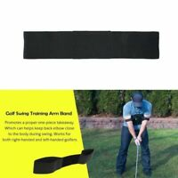 Golf Swing Trainer Aid Arm Band Posture Corrector Belt Training For Begin Pro US