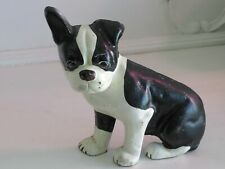 Vintage Cast Iron French Bull Dog Boston Terrier Boxer Figure Doorstop
