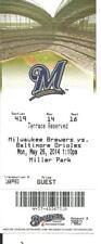 Brewers Orioles May 26 2014 Khris Davis Lyle Overbay 2 Jonathan Schoop Home Runs