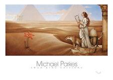 Michael Parkes Desert Lotus Fantasy Weird Odd African Wildlife Print Poster