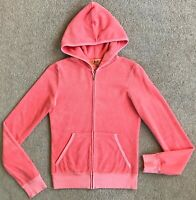 JUICY COUTURE LIGHT PINK TERRY TRACK JACKET S PARIS KYLIE FAVE