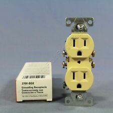 New Cooper Ivory Residential Duplex Outlet Receptacle NEMA 5-15R 15A 270V Boxed