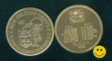 1971 NEW ORLEANS SAINTS - 5th Year Football Schedule Doubloon Coin-Falstaff Beer