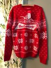 Unisex Men's Small Budweiser Beer Ugly Christmas Holiday Sweater NWT Xmas NWT