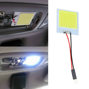 T10 COB 48 SMD LED Plate Car Interior Dome Light Bulb Festoon 12V White Lamp