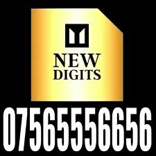 GOLD SPECIAL MEMORABLE EASY TO REMEMBER MOBILE PHONE NUMBER SIM CARD EXCLUSIVE