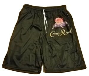NEW CROWN ROYAL Logo Men's Long Beach Swimming Drawstring Board Shorts Size 3XL