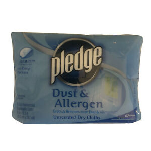 Pledge Dust And Allergen Unscented Grab-it Deep Pockets, 16 Dry Cloths