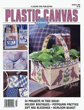 Plastic Canvas Corner Magazine ~ March 1998, 24 plastic canvas projects