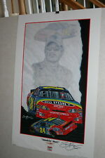 VINTAGE NASCAR SAM BASS JEFF GORDON 'SMOKIN HOT' DUPONT 24 POSTER 2004
