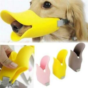 Adjustable  Plastic  Pet Products Dog Muzzle Duckbill Duck face lip Mouth ST