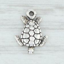 Little Sea Turtle Charm - Sterling Silver 925 Nautical Beach